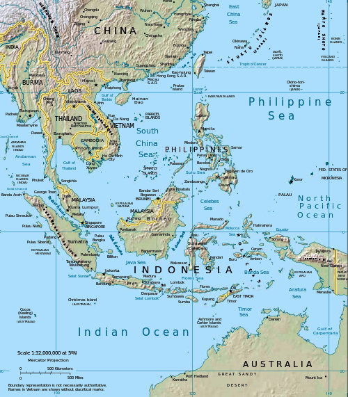 South Pacific Island Groups Map